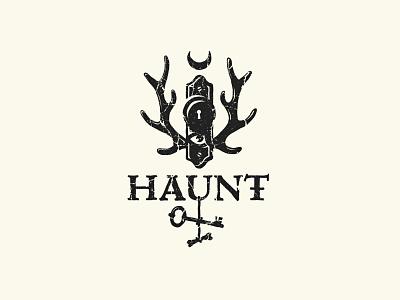 HAUNT illustration haunt key raindeer halloween mystic forest graphic design branding design witch dark logo