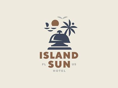 Island sun florida sun hotel sea island palm logo