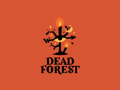 Dead forest gothic moon candle witch horror dark logo