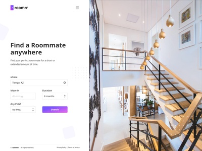 Roomrr Roommate Search Concept