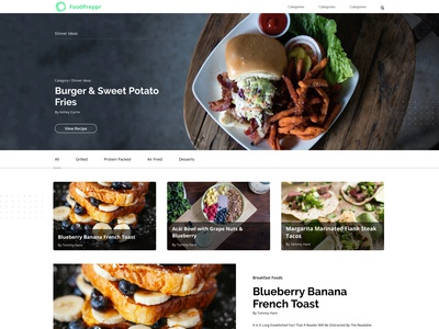 FoodPreppr Food Blog Web Design