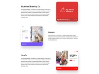 Design Agency Landing Page Portfolio Section