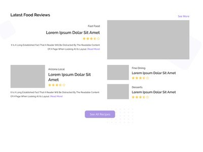 Food Review Blog Article Layout