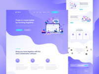 Team Collaboration Landing Page