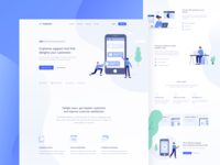Customer Support Landing Page