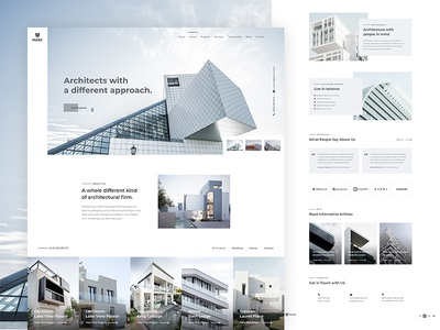 Marc - Architecture Firm Website architecture firm sophisticated elegant apartment minimal clean resort hotel contraction building real estate interior design architecture ux design ui design web design website homepage lander landing page