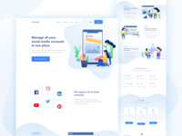 Boostso - Social Media Management Landing Page