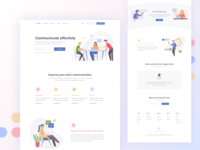 Tesot - Team Communication Landing Page