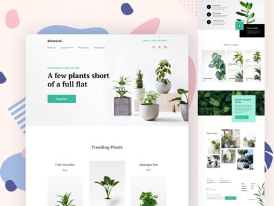Potted Plants Shop Landing Page