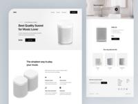 Ono - Smart Speaker Landing Page