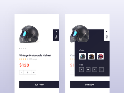 Helmet - Product Page buy now add to cart product screen product page e-commerce app ecommerce design ux design ui design 2019 trend mobile design mobile app design mobile app minimal app design material app design iphone app ios app clean app design app screen app design android app