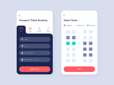 Ticket Booking App UI