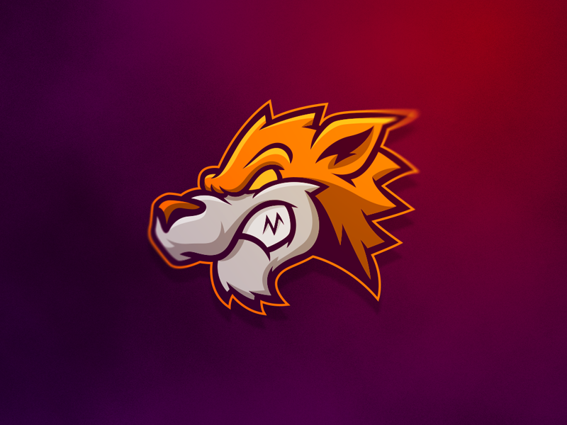 Wolf Mascot creative grenade sports wolf mascot