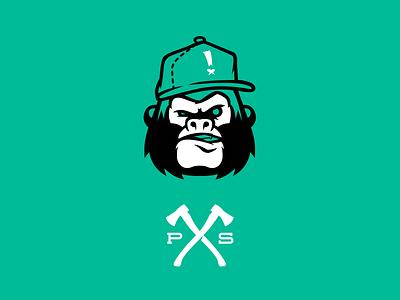 Grrrrilla mascot branding logo