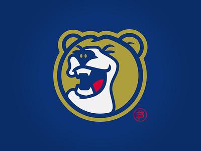 Golden Bear circle mascot logo