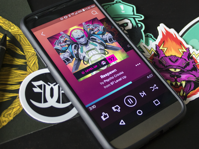 Audio Player UI + Desk Junk audio player ux ui
