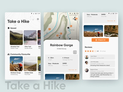 Take a Hike App design