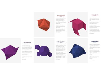 Metatron's Cube origami app illustration design minimal app ux vector tetrahedron platonic solid shapes octahedron metatrons cube icosahedron hexahedron grid dodecahedron cube