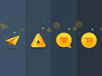 Travel Reward Illustrations impossible triangle impossible shape plane vector ux user interface ui minimal logo iphone ios interface illustration icon design branding app animation