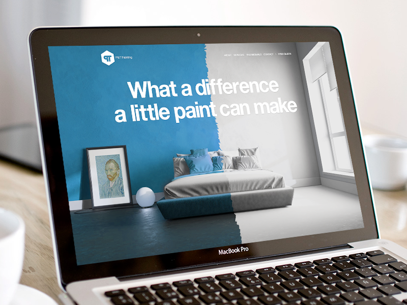 Painting company website website landing page hero branding vincent van gogh van gogh painting typography huge typography paint decorating home decorating