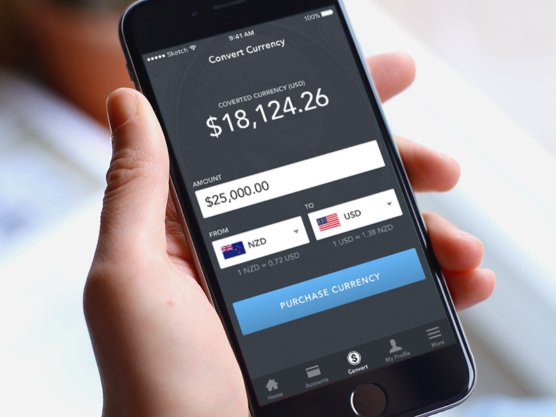 Currency converter app 04 ux user interface ui ios app finance cash money convert currency