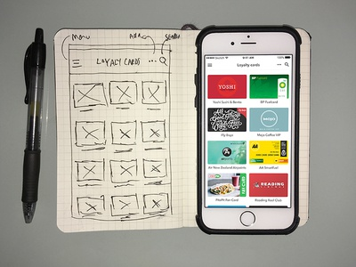 Loyalty cards app (concept)
