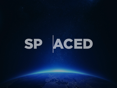 SPACEDchallenge logotype minimal logo earth cursor space outer space logotype typography spacedchallenge spaced design branding