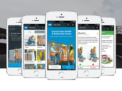 Health and safety app safety risks construction health and safety web app website app user interface ux ui user experience