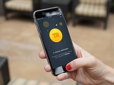Travel Rewards Branding design vector illustration iphone minimal ux app ios user interface interface ui