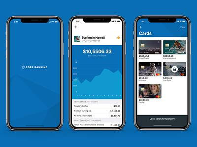 Core Banking mobile app money cash banking app fintech finance banking payments transfers ux ui app