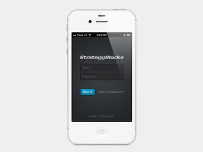 StrategyBlocks login screen (WIP)