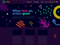 LiveGig Homepage Design