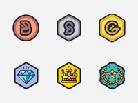 Gaming Level Medal Icons