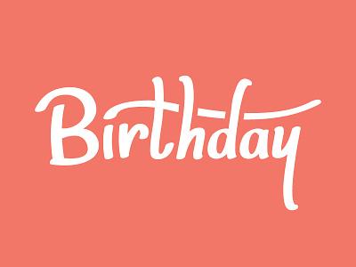 Birthday brush script brush script drawn handmade type typography font custom birthday