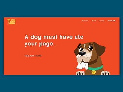 404page web ux ui illustration dog missing 404 page website design error page 404