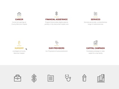 Hospital Icons website services career financial building doctor nursery set icons icon hospital