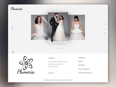 Plumeria Website landing page ui  ux design wedding simple minimal clean web website