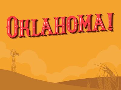 Oklahoma Logo simple vector flat custom lettering logo type design illustration typography oklahoma