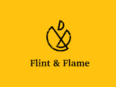 Daily Logo Challenge 10 - Fire Logo restaraunt grill minimal branding minimal simple geo geometic flame flint and flame daily logo challenge logo fire