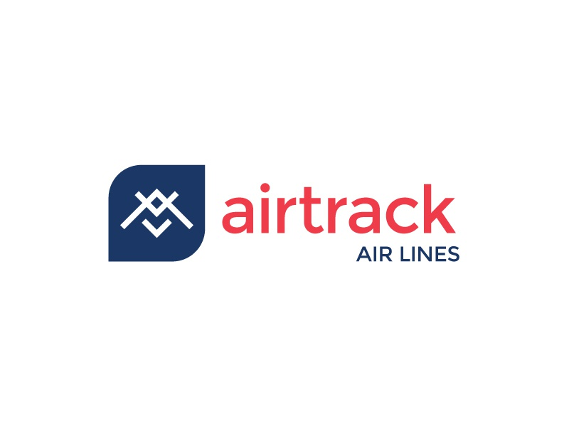 Daily Logo Challenge - Day 12 - Airplane company branding design flying air aeroplane geo airlines samurai geometry airtrack daily logo challenge airline fly airplane