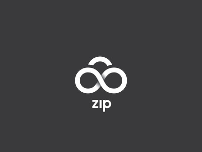 Daily Logo Challenge - Day 14 infinity eternal branding design logo clean simple data server network zip cloud cloud computing