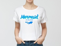 T-shirt Diving Mermaid design