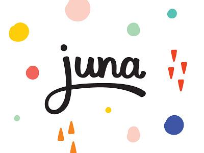 Juna Branding app logo app pregnancy app logodesign playfull surfacedesign pattern logo homepage website branding juna
