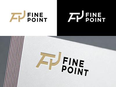 Fine Point Logo 2 branding flat simple icon chair fp design logodesign logo