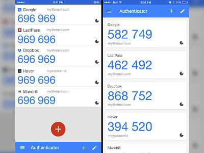 Google Authenticator Mock two-factor 2fa google ui ux