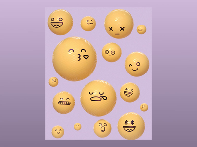 Week 04 - Overflowing emotions smiley balloon simulation ncloth inflate emoji dynamics design gif after effects motion loop arnold maya 3d animation