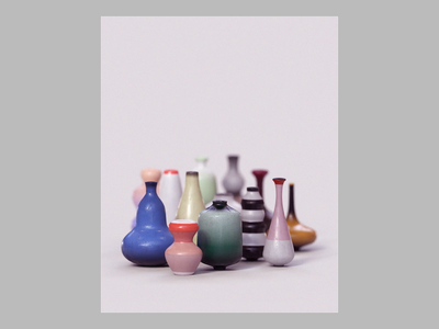 Week 07 - Pottery Class revolve gravity sketch museum fields katamari vase clay pottery dynamics design gif after effects isometric motion loop arnold maya 3d animation