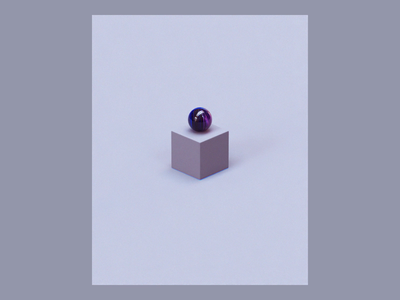 Week 14 - Parallels marbles design gif 2d after effects isometric motion loop arnold maya 3d animation