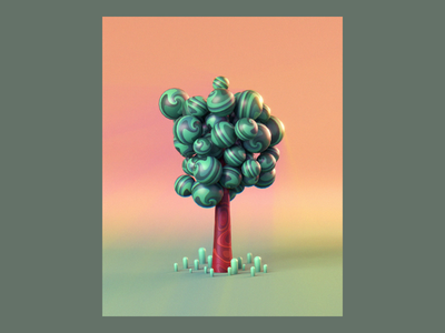 Week 15 - Breezy nature windy breezy spring tree mash dynamics after effects isometric motion loop arnold maya 3d animation