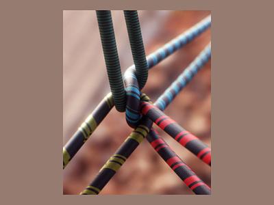 Week 16 - Climbing tension tangle hiking climb rope dynamics motion loop arnold maya 3d animation